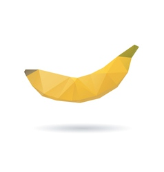 Banana abstract isolated on a white backgrounds vector image