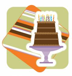 chocolate birthday cake illustration vector image