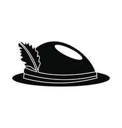Hat with a feather icon vector image vector image