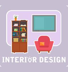 interior design concept symbol vector image