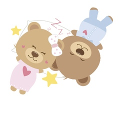 Love concept of couple teddy bear doll vector image vector image