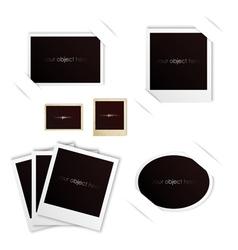 photo frames isolated polaroid vintage set vector image