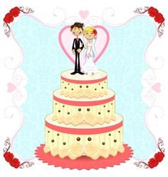 Romantic Wedding Cake vector image vector image
