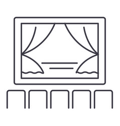 theater show line icon sign vector image