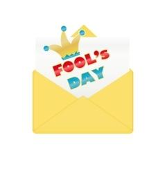 Fools day design envelope vector image
