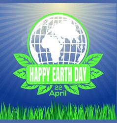 happy earth day logo against the backdrop of vector image