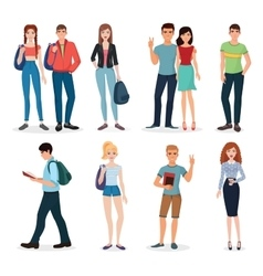 International young people characters and couples vector image vector image