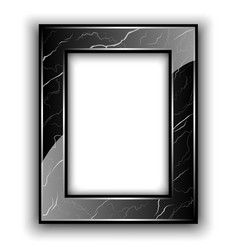 Marble frame for photo vector image