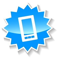 Phone blue icon vector image vector image