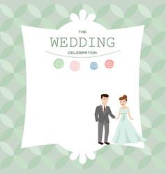 wedding couple bride and groom wedding couple vector image