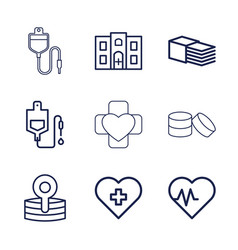 9 healthcare icons vector