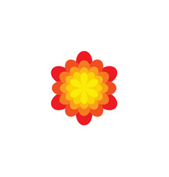 Abstract flower symbol icon design element vector
