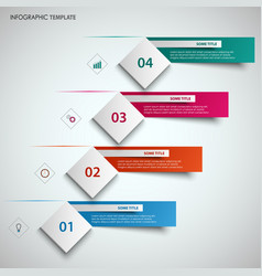 abstract info graphic with design cube and labels vector image