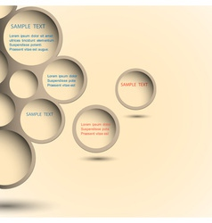 Abstract new design bubble vector image