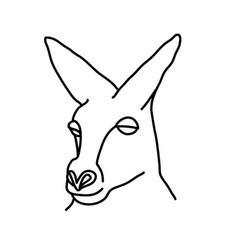 animal kangaroo icon design clip art line icon vector image