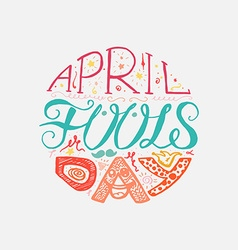 April Fools Day Lettering vector