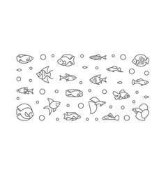aquarium fish banner aquariumistics vector image