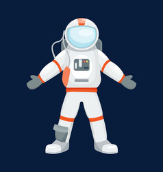 astronaut character pose vector image