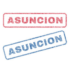 Asuncion textile stamps vector