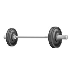 athletic barbell with weight vector image