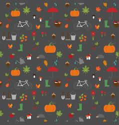 Autumn garden flat pattern vector