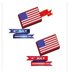 Banner American Independence Day vector