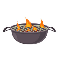 barbecue icon cartoon style vector image