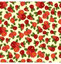 Beautiful seamless pattern with red roses on light vector image