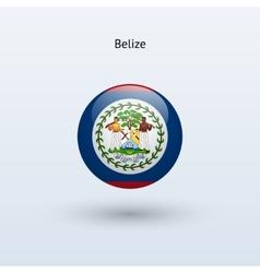 Belize round flag vector image