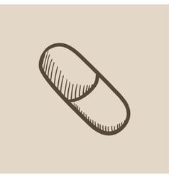 Capsule pill sketch icon vector image
