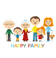 cheerful happy family vector image