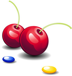 Cherries and candy vector