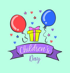 Children day design collection doodles vector