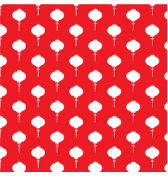 chinese white paper lamp on red background vector image