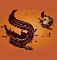 Chocolate advertising design high detailed vector