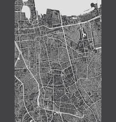 City map jakarta monochrome detailed plan vector
