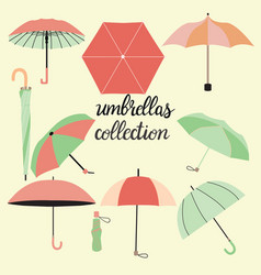 collection of different fashion umbrellas and vector image