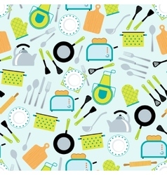 Cooking accessories seamless pattern vector