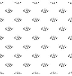 Curly cloud pattern vector
