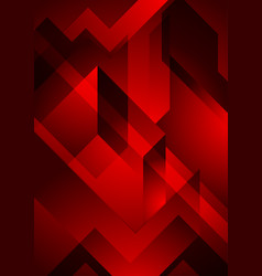 Dark red abstract geometric background vector