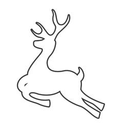 Deer reindeer isolated icon vector