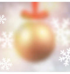 Defocused golden christmas ball vector