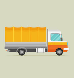 delivery transport old truck van flat vector image