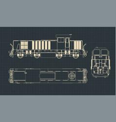 diesel locomotive drawings vector image