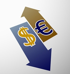 dollar and euro vector image