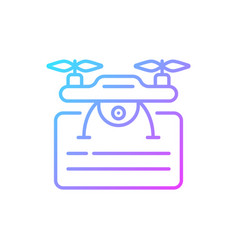 Drone license gradient linear icon vector