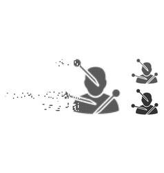 Dust pixel halftone voodoo needles icon vector