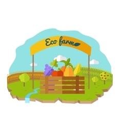 Eco Farm Conceptual in Flat Style Design vector image