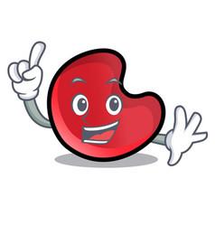 finger candy moon mascot cartoon vector image