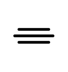 fog line icon vector image